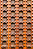Ancient church castle wooden door with nails Royalty Free Stock Photos