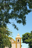 Ancient church in colonial style in southern Bahia, Brazil Stock Photos