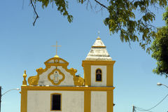 Ancient church in colonial style in southern Bahia, Brazil Royalty Free Stock Photos