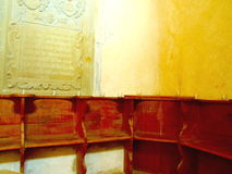Ancient Church Corner Seats Royalty Free Stock Images