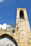 Ancient church in Cyprus. Old deserted monastery in Cyprus Stock Photos