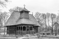 Ancient church. An ancient church displayed in the Peasant Museum in Bucharest,  Romania Royalty Free Stock Images