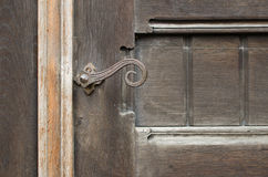 Ancient church door Stock Photography