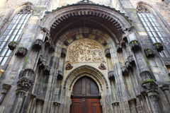 Ancient church door Royalty Free Stock Photo
