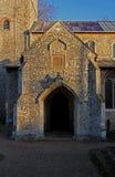 Ancient church doorway exterior, Burnham Market. Stock Image