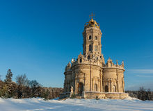 Ancient church in Dubrovitsy, Russia. Ancient church in Dubrovitsy at sunny day, Russia Stock Photography