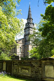Ancient church in Edinburgh Stock Image