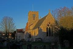 Ancient church exterior, Burnham Market. Stock Image