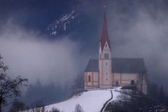 Ancient Church in Fog Royalty Free Stock Photo