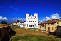 Ancient Church in Fort Gale at Sri Lanka. Horizontal orientation Stock Image