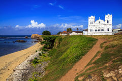 Ancient Church in Fort Gale at Sri Lanka. Horizontal orientation Royalty Free Stock Images