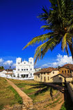 Ancient Church in Fort Gale at Sri Lanka. Vertical orientation Royalty Free Stock Images