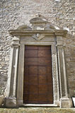 Ancient church front door Royalty Free Stock Photography