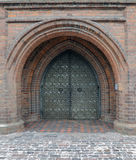 Ancient church gate Stock Photo