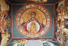 Ancient church icon. Painted in vivid colours Stock Image