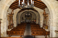 Ancient church. Interior of an ancient church Stock Image