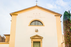 Ancient church of Italian medieval village Royalty Free Stock Photography
