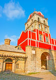 Ancient church in Iviron monastery Stock Photography