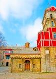 Ancient church in Iviron monastery Stock Photos