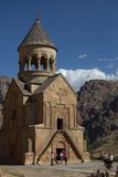 Ancient church in a mountain pass Royalty Free Stock Photo