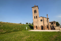 Ancient church near Felonica Stock Image