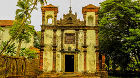 Ancient church in old goa Royalty Free Stock Images