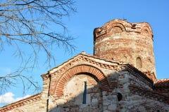 Ancient church in old town Nesebar, Bulgaria Royalty Free Stock Photo