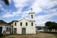 Ancient Church in Parati Stock Photography