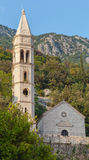 Ancient church in Perast town, Bay of Kotor Royalty Free Stock Images