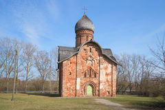 The ancient Church of Peter and Paul, april day. Veliky Novgorod, Russia Royalty Free Stock Images