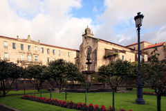 Ancient church  in Pontevedra Stock Images