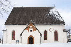 Ancient church in Porvoo, Finland Stock Photo