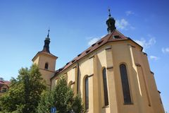 An ancient church in Prague Stock Photos