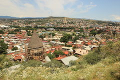 Ancient church on the reconstruction of the Old City in Tbilisi, Georgia Stock Photo