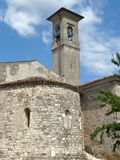 The ancient church of the Romanesque Pieve of Pontenove spans th Royalty Free Stock Photography