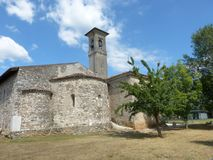 The ancient church of the Romanesque Pieve of Pontenove spans th Stock Images