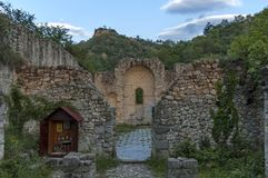 Ancient church ruin St. Barbarians in Melnik town Royalty Free Stock Image