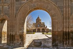 Ancient church of Saint Gayane in Etchmiadzin, Armenia royalty free stock photo