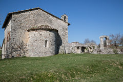 The ancient church of San Damiano in Italy. The ancient church of San Damiano. Typical Romanesque architecture. Umbria region, Central Italy Stock Photography