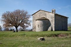 The ancient church of San Damiano in Italy. The ancient church of San Damiano. Typical Romanesque architecture. Umbria region, Central Italy Stock Photos
