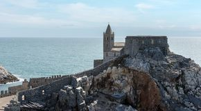 Church of Saint Peter - Porto Venere Italy Royalty Free Stock Photos