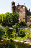 Ancient church in Sant Joan les Fonts. Catalonia Royalty Free Stock Photography