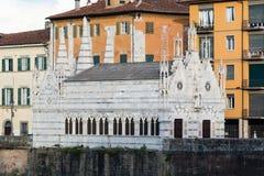 The ancient church of 'Santa Maria della Spina in Pisa, Italy. The church of 'Santa Maria della Spina in Pisa, Italy royalty free stock photography
