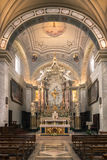The ancient church of Santa Maria e San Rocco in the medieval vi Royalty Free Stock Images