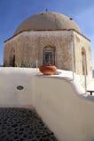 Ancient church on Santorini island, Cyclades, Greece. Stock Image