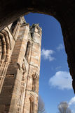 Ancient church seen through arch Royalty Free Stock Photography
