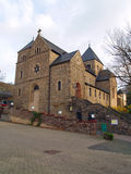 Ancient church in small town Altenahr Stock Photo