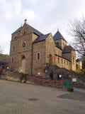 Ancient church in small town Altenahr. Ancient stone church in small town Altenahr Germany Stock Photo