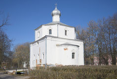 The ancient Church of St. George. Veliky Novgorod Stock Images