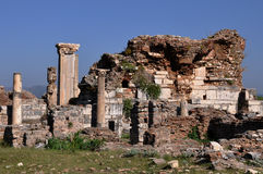 Ancient Church Of St Mary at Ephesus, Turkey Stock Images